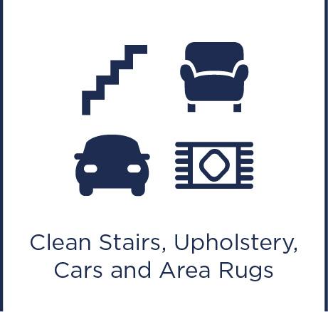 Lépcsők, kárpit, autók és szőnyegek tisztításához