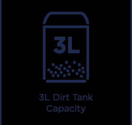3L szennyvíztartály kapacitása