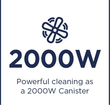 Erőteljes tisztítás 2000 wattos tartályos porszívóval